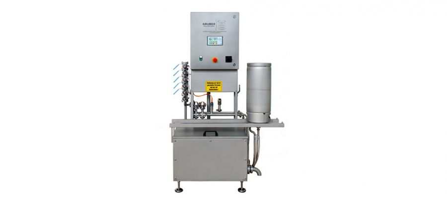 semi automatic keg cleaning machine