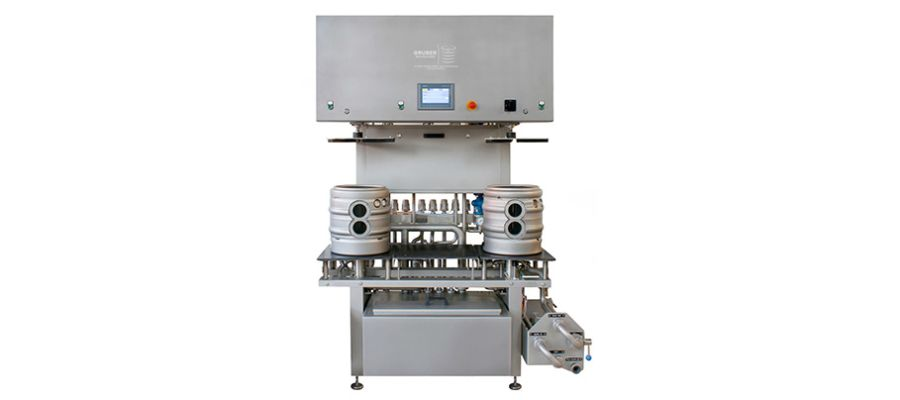 Semi automatic cleaning and filling machine